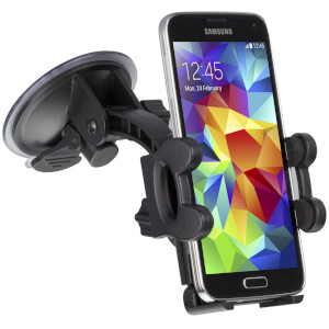 Kit Essentials Car Smartphone Holder Suction Fit - Black