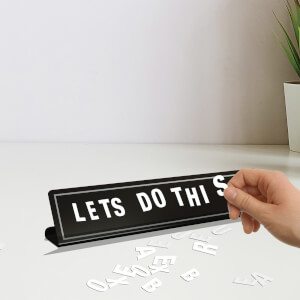 Magnetic Letter Board Black
