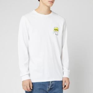 A.P.C. X Brain Dead Men's Long Sleeve Molly T-Shirt - Blanc