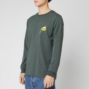 A.P.C. X Brain Dead Men's Long Sleeve Molly T-Shirt - Vert Grise