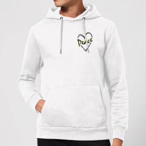 Peace Heart Hoodie - White