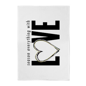 Season Everything With Love Cotton Tea Towel