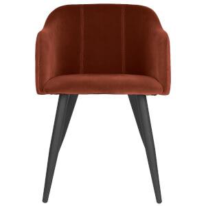 Broste Copenhagen Pernilla Velvet Chair - Caramel Café