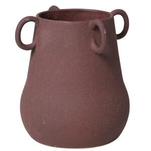 Broste Copenhagen Horn Ceramic Vase - Puce