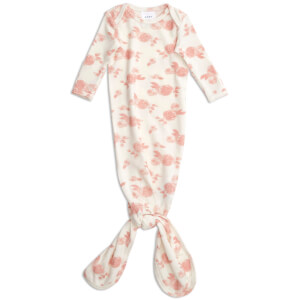 aden + anais Snuggle Knit Knotted Gown - Rosettes (0-3 Months)