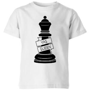 Queen Chess Piece Yas Queen Kids' T-Shirt - White