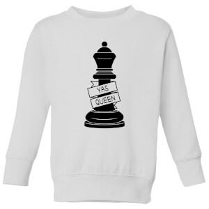 Queen Chess Piece Yas Queen Kids' Sweatshirt - White