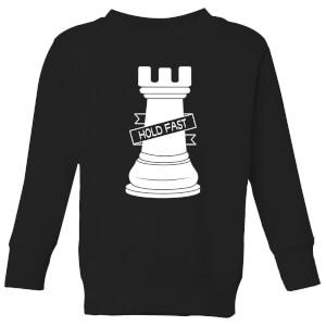 Rook Chess Piece Kids' Sweatshirt - Black