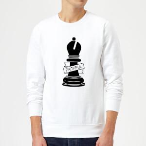Bishop Chess Piece Faithful Sweatshirt - White