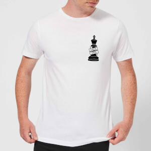King Chess Piece Check Mate Pocket Print Men's T-Shirt - White