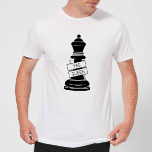 Queen Chess Piece Yas Queen Men's T-Shirt - White