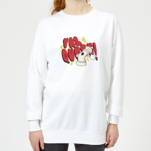Yas Queen! Cartoon Women's Sweatshirt - White