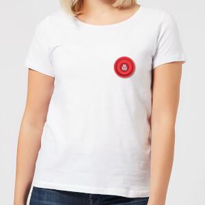 Red Checker Pocket Print Women's T-Shirt - White