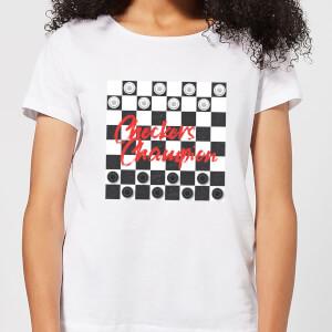 Checkers Board Champion Women's T-Shirt - White