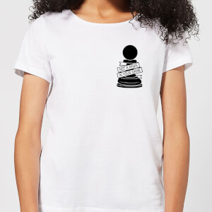 Pawn Chess Piece Pocket Print Women's T-Shirt - White