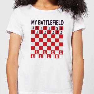 My Battlefield Chess Board Red & White Women's T-Shirt - White