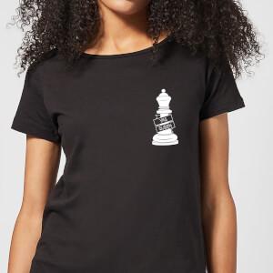 Yas Queen White Pocket Print Women's T-Shirt - Black
