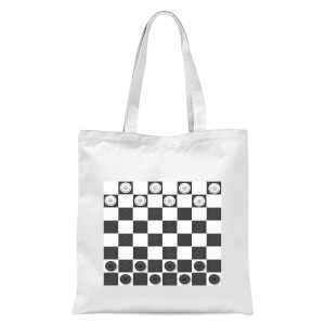 Playing Checkers Board Tote Bag - White