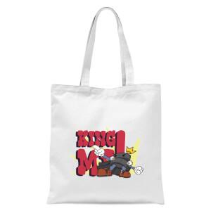 King Me! Checker King Tote Bag - White