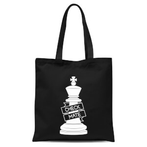 King Chess Piece Tote Bag - Black