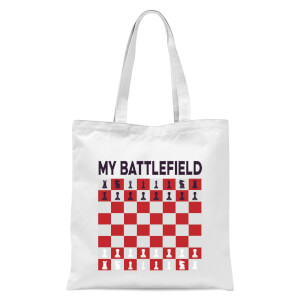 My Battlefield Chess Board Red & White Tote Bag - White