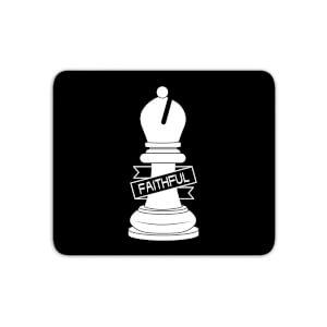 Bishop Chess Piece Faithful Mouse Mat