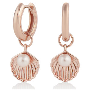 Olivia Burton Women's Shell Huggie Hoops - Rose Gold