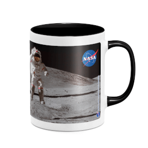 NASA Accessories NASA Moon And Flag Mug - White/Black