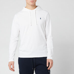 Polo Ralph Lauren Men's Hooded Long Sleeve T-Shirt - White