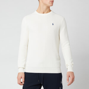 Polo Ralph Lauren Men's Waffle Pima Crew Jumper - Warm White