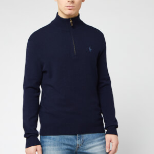 Polo Ralph Lauren Men's Half Zip Sweatshirt - Hunter Navy