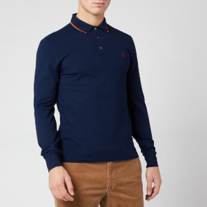 Polo Ralph Lauren Men's Tipped Long Sleeve Polo Shirt - French Navy