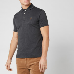 Polo Ralph Lauren Men's Pima Soft Touch Slim Fit Short Sleeve Polo Shirt - Dark Grey Heather
