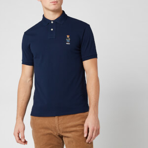 Polo Ralph Lauren Men's Custom Fit Bear Basic Mesh Polo Shirt - Navy
