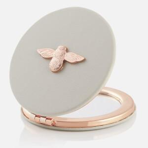 Olivia Burton Women's 3D Bee Compact Mirror - Grey/Rose Gold