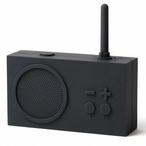 Lexon TYKHO 3 FM Radio and Bluetooth Speaker - Dark Grey