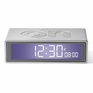 Lexon FLIP+ Alarm Clock - Glossy Aluminium