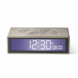 Lexon FLIP+ Alarm Clock - Glossy Light Gold