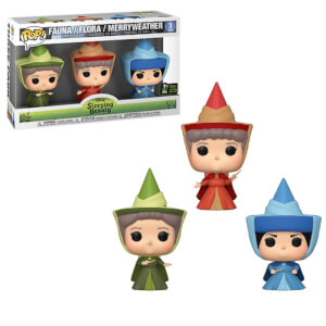 Disney Sleeping Beauty Fauna, Flora and Merryweather ECCC 2020 EXC Funko Pop! Vinyl 3-Pack