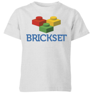 Brickset Logo Kids' T-Shirt - Grey