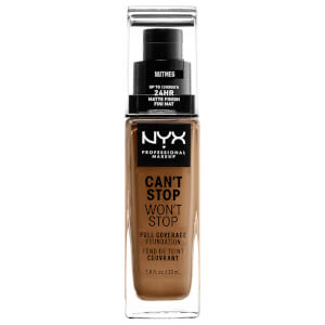 NYX Professional Makeup Can't Stop Won't Stop Full Coverage Liquid Foundation 30ml (Various Shades)