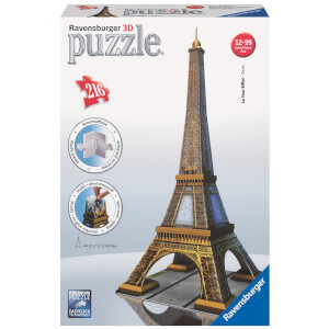 Ravensburger Eiffel Tower Building 3D Jigsaw Puzzle (216 Pieces)