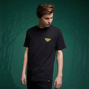 Legend Of Zelda Embroidered Hyrule Crest T-Shirt - Black
