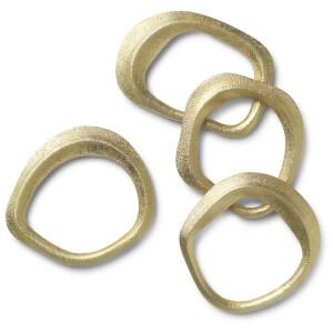 Ferm Living Flow Brass Napkin Rings (Set of 4)