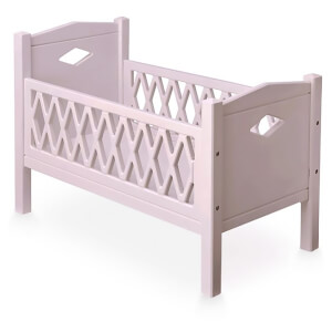 Cam Cam Harlequin Doll's Bed - Blossom Pink
