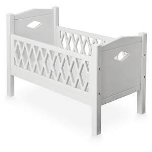 Cam Cam Harlequin Doll's Bed - White