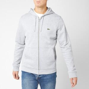 Lacoste Men's Embossed Zip Hoody - Silver Chine