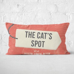 The Cat's Spot Rectangular Cushion