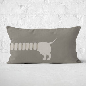Long Sausage Dog Back Legs Rectangular Cushion