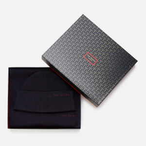 Ted Baker Men's Bribox Hat & Scarf Set - Navy